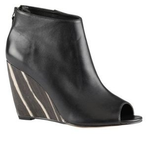 Shoes - Aldo Albanesi Open Toe Wedge Boots